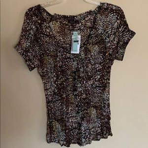 NWT sheer blouse by Belissimo
